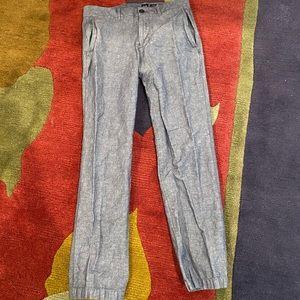 Men's gap blue linen pants